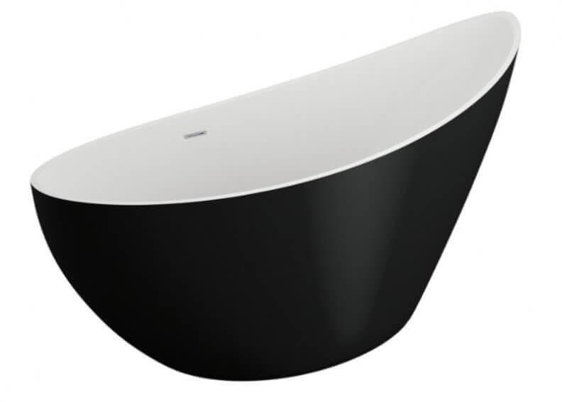Polimat wanna wolnostojąca Zoe 180x80 cm czarny mat 00332