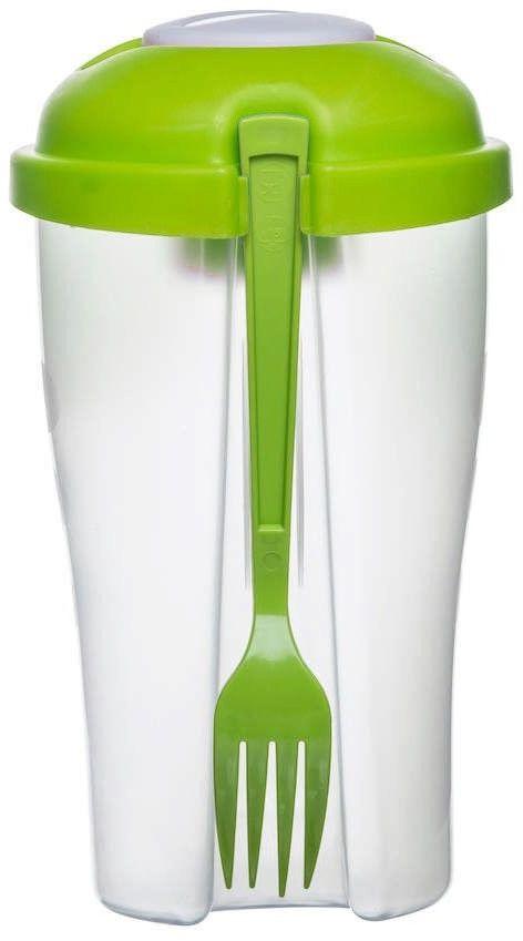 Sagaform - to go - pojemnik na sałatkę, 0,8 l, zielony - zielony