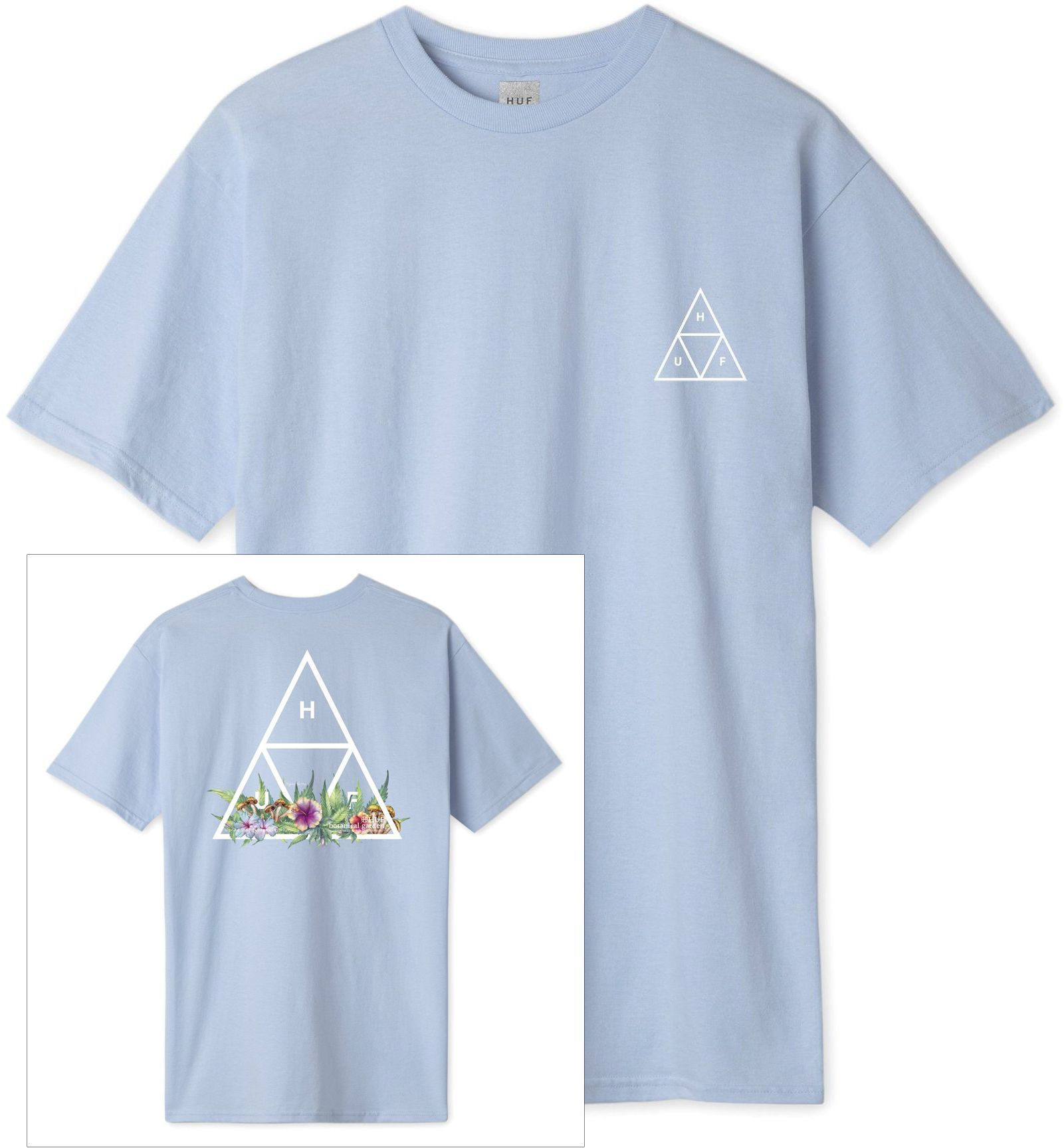 t-shirt męski HUF BOTANICAL GARDEN TRIPLE TRIANGLE TEE Green