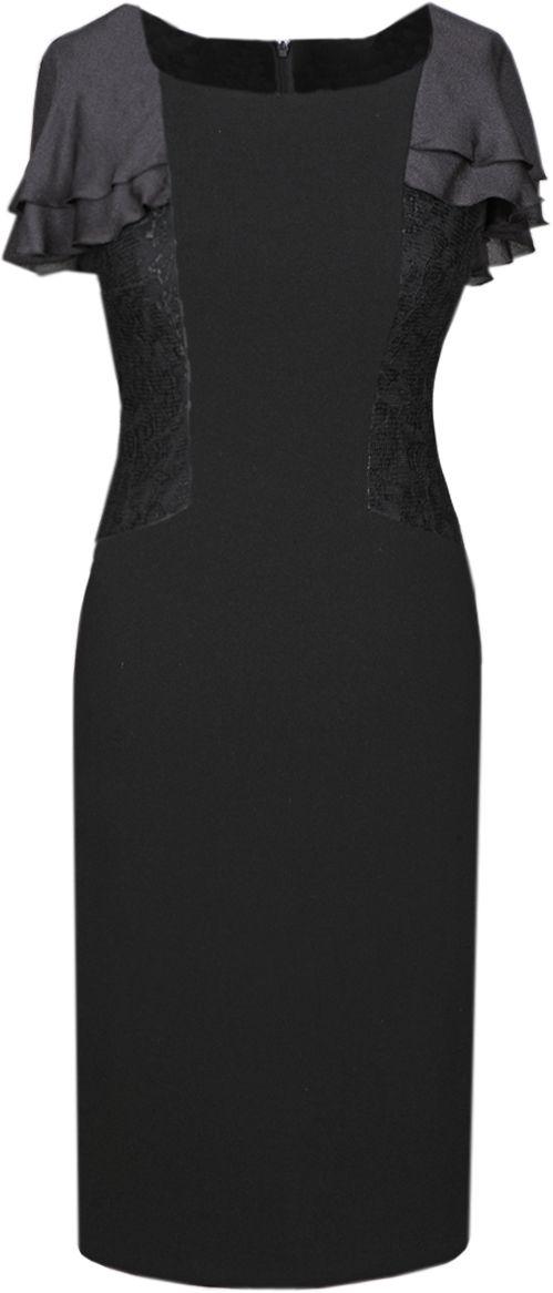 Sukienki Sukienka Suknie FSU326 CZARNY