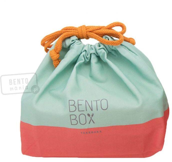 Torebka ozdobno-ochronna na lunch box - TAKENAKA mint-coral