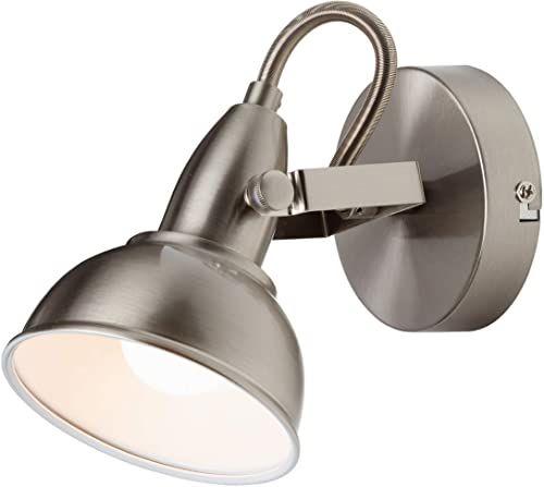Briloner Leuchten lampa ścienna z obrotowym i obrotowym światłem punktowym lampa ścienna w stylu retro vintage maks. 40 W 15,6 x 10 x 15,6 cm