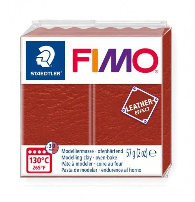 Masa plastyczna FIMO leather-effect 57g 53096 53218, Kolor masy: Rdzawa - 749