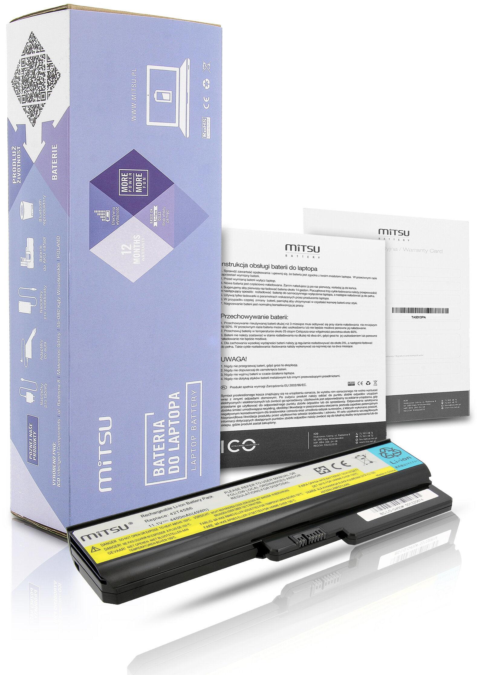 Bateria do laptopa Lenovo 3000 G430 N500 G550 G530 IdeaPad