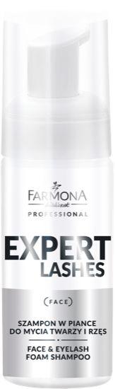 Farmona expert lashes szampon w piance do mycia twarzy i rzęs 100ml