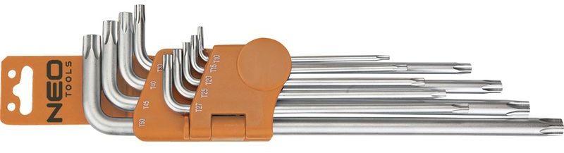 Klucze pięciokątne z otworem TS10 do TS50 zestaw 9 elementów 09-520
