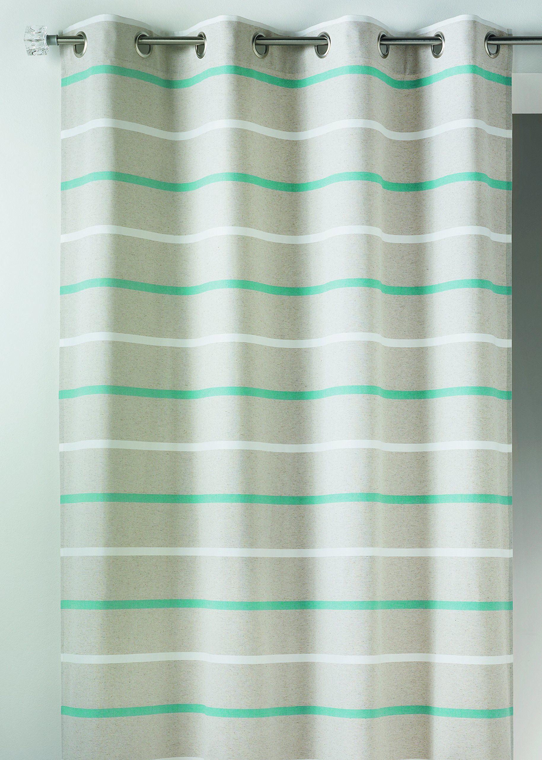 Home Maison HM6996298 zasłona pozioma, płótno, 155 x 260 cm turkusowa