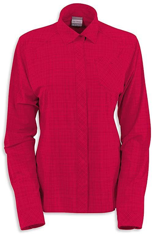 Tatonka Luis damska koszulka z długim rękawem Czerwony - Czerwony dywan 36