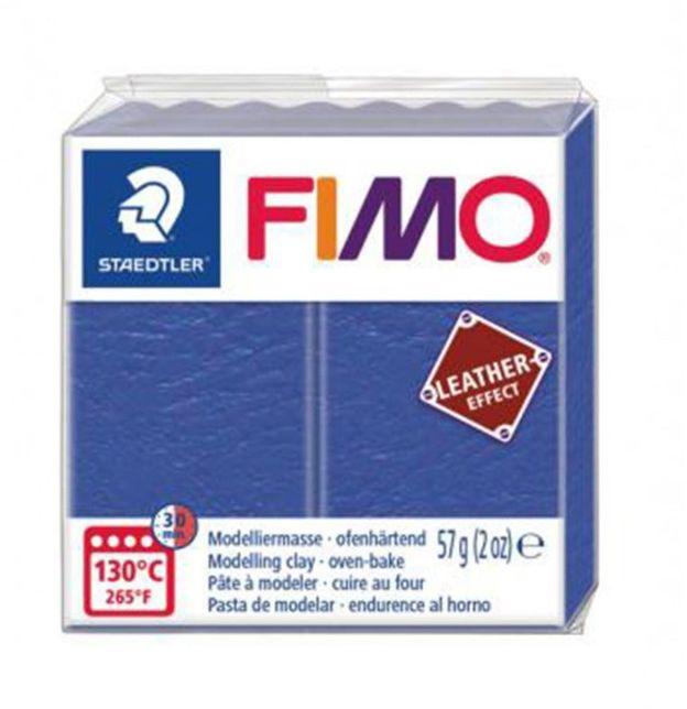 Masa plastyczna FIMO leather-effect 57g 53003 53126, Kolor masy: Niebieska - 309