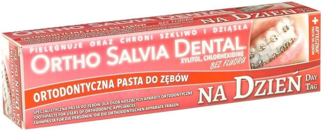 Ortho Salvia Day - Pasta do zębów na dzień dla osób noszących aparaty ortodontyczne 75 ml