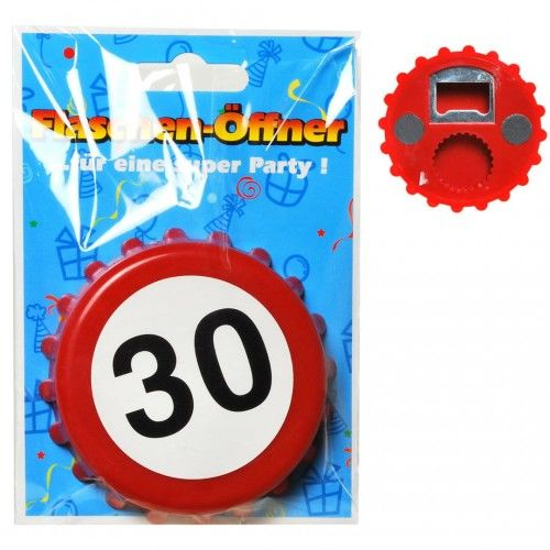 Otwieracz do butelek na 30 urodziny Znak