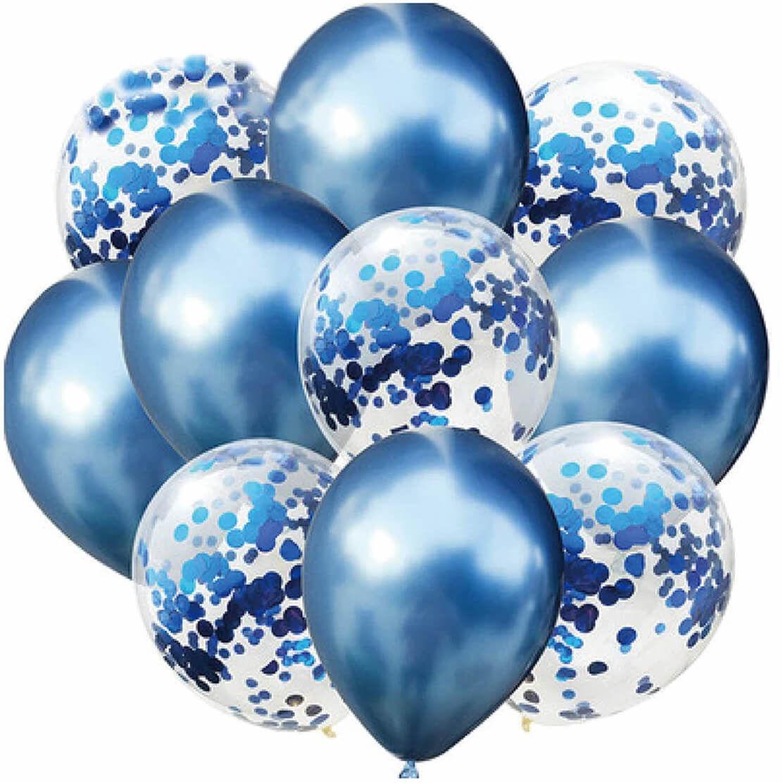 Zestaw balonów niebieski chrom - 30 cm - 10 szt.