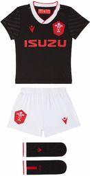 Macron Unisex Baby 58125564 Wru M20 WRU M20 koszulka z szortami i skarpetkami, alternatywny zestaw bokserski, dla dzieci, czarny, 6/9 m czarny czarny 3 6 miesi?cy