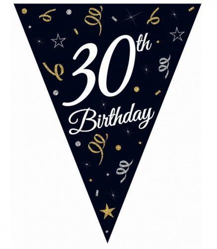 Girlanda urodzinowa z flag na 30-tkę STAR