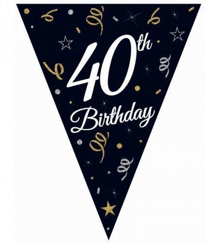 Girlanda urodzinowa z flag na 40-tkę STAR