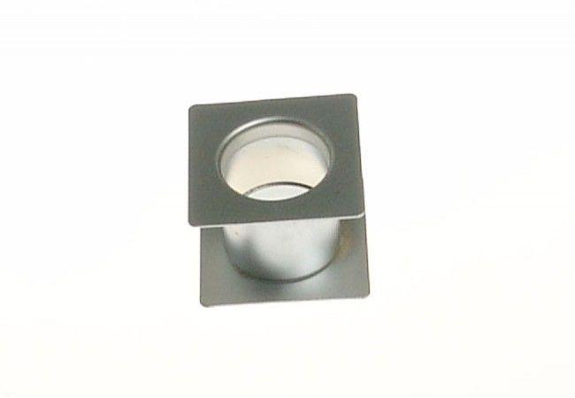 Tuleja wentylacyjna kwadratowa fi 40 chrom-satyna