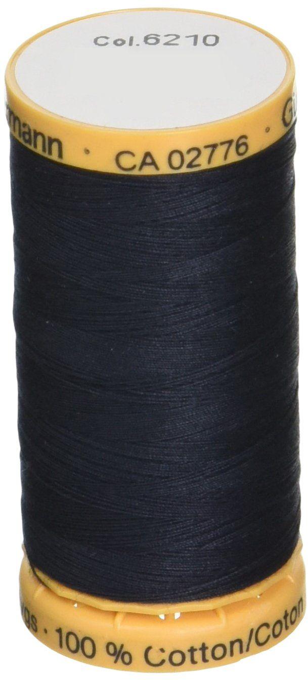 Gutermann Naturalna bawełniana nić 273 jardów - węgiel drzewny, akryl, wielokolorowa, 2,79 x 5,58 x 2,79 cm