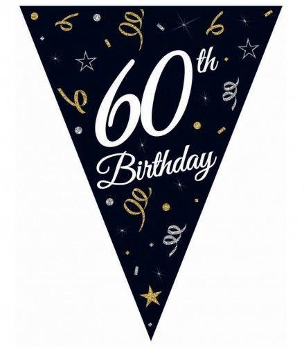 Girlanda urodzinowa z flag na 60-tkę STAR