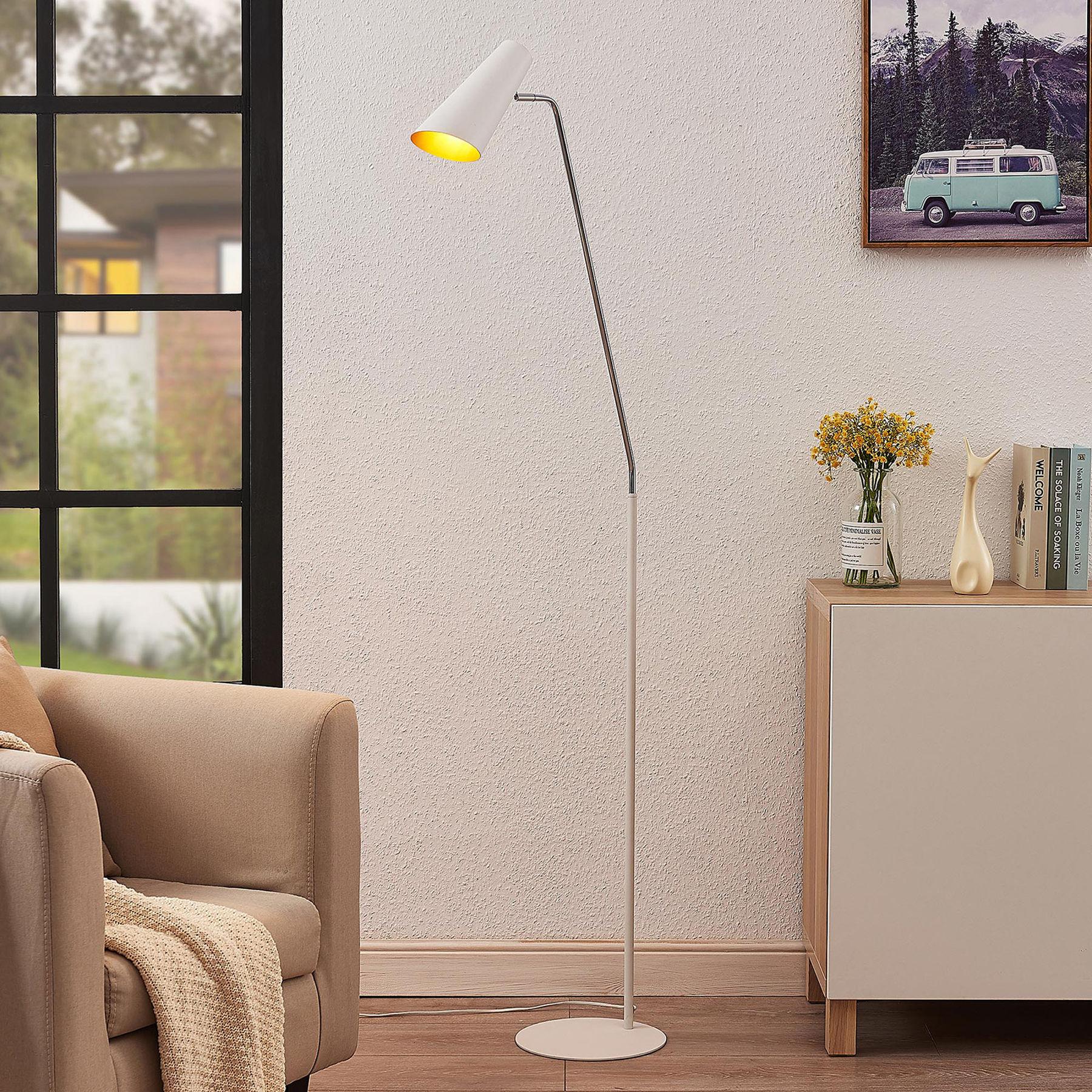 Lucande Wibke lampa podłogowa w kolorze białym