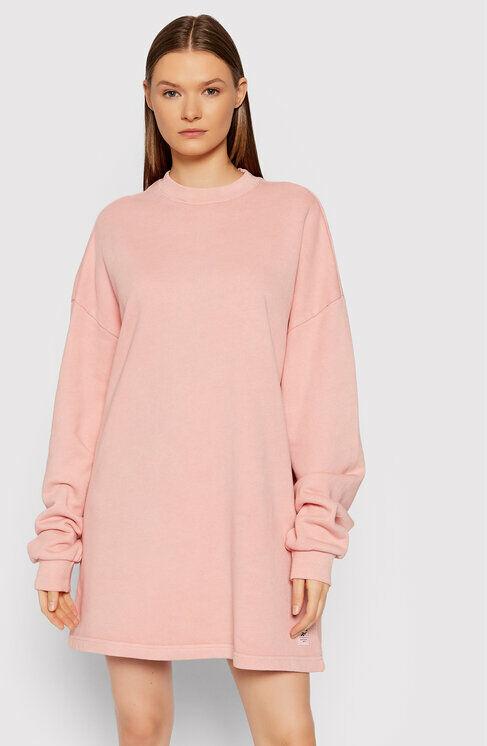 Sukienka dzianinowa Natural Dye Crew GR0399 Różowy Oversize