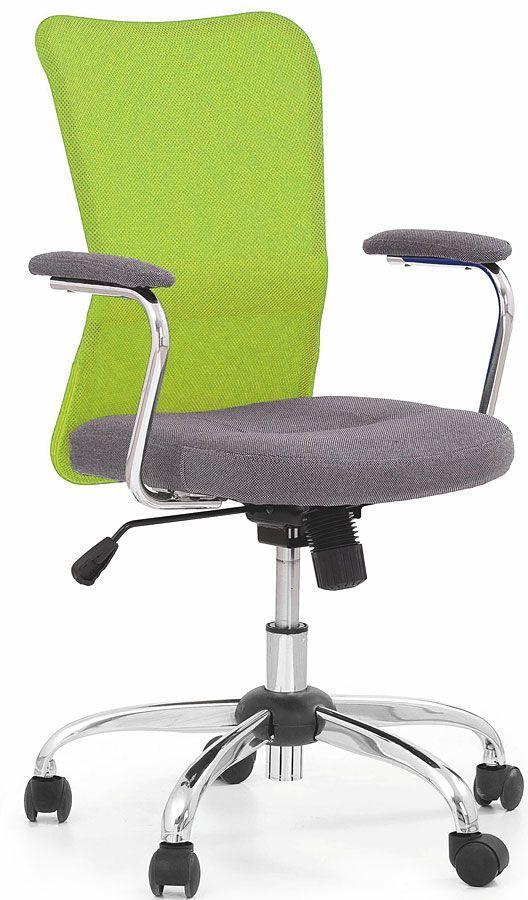 Młodzieżowy fotel obrotowy Alwer - zielony