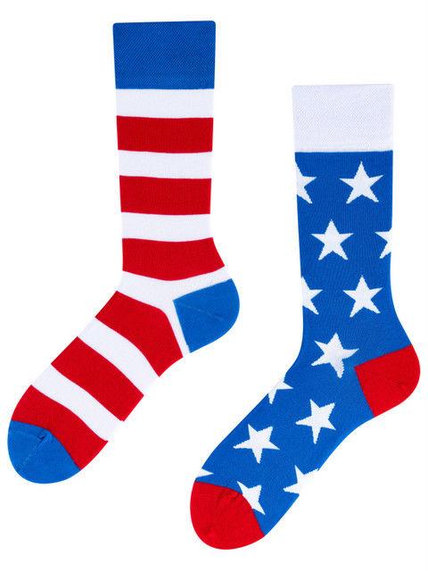 Americano To Go, Todo Socks, Ameryka, Amerykańskie, Paski, Kolorowe Skarpety