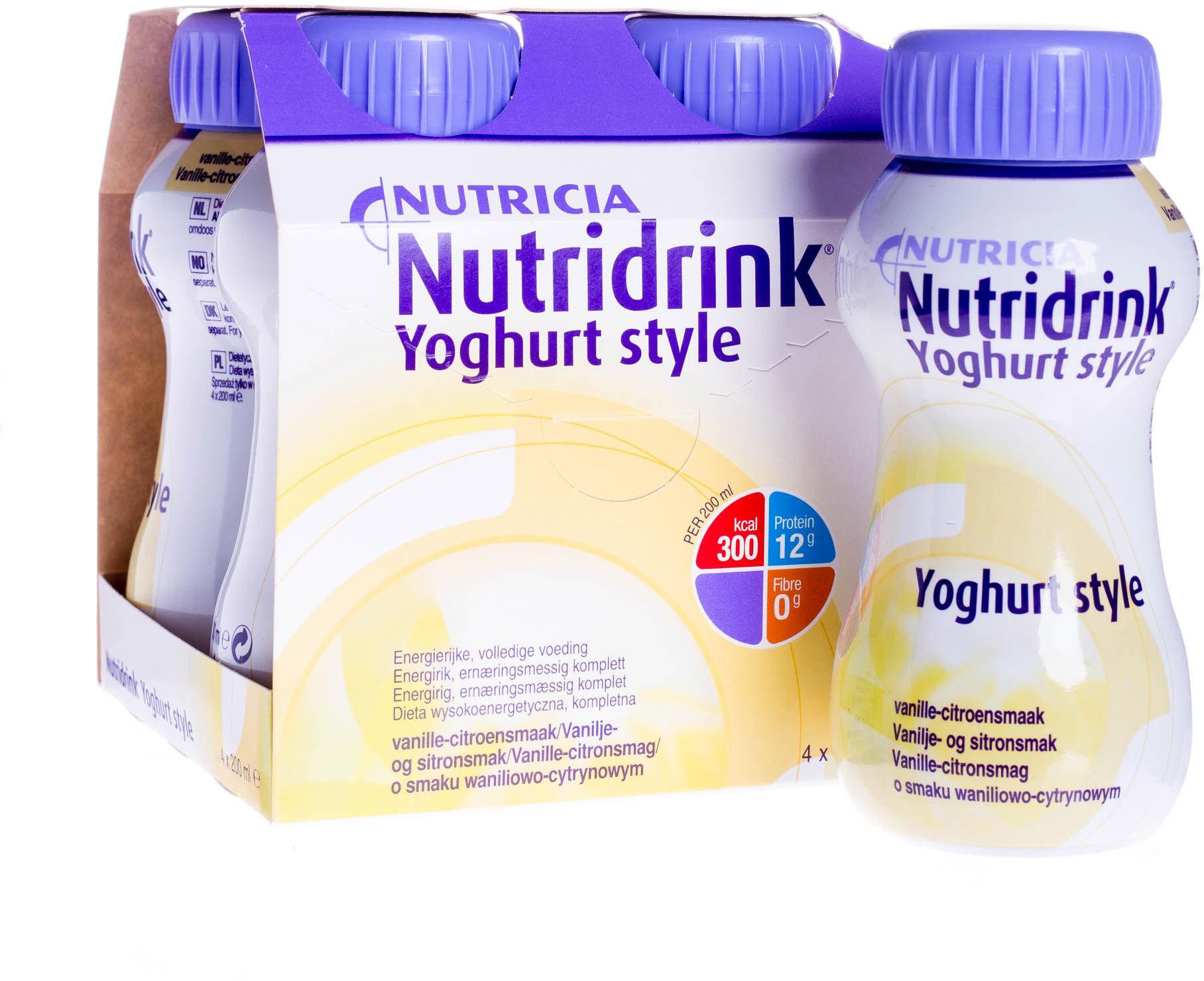 NUTRIDRINK Yoghurt Style smak waniliowo-cytrynowy 4 x 200 ml