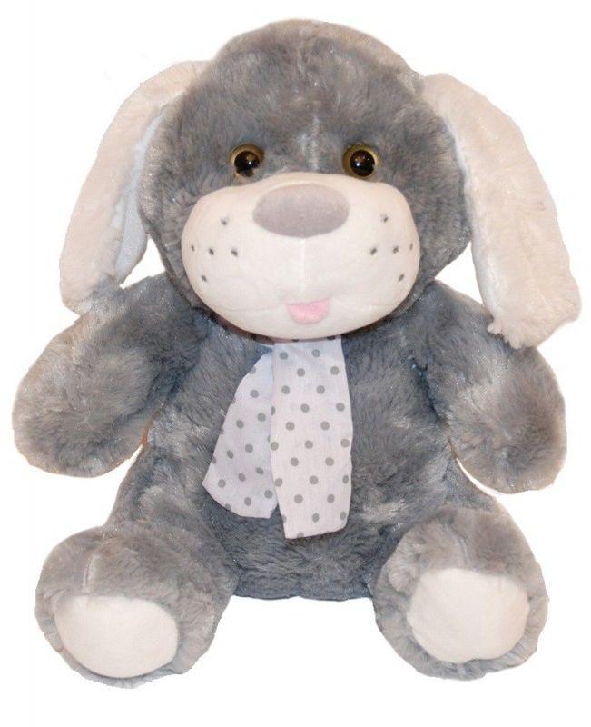 Maskotka Pies Kolekcja Silver szary 35 cm