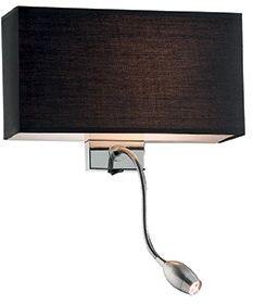 Kinkiet Hotel AP2 035956 Ideal Lux funkcjonalna oprawa w kolorze czarnym