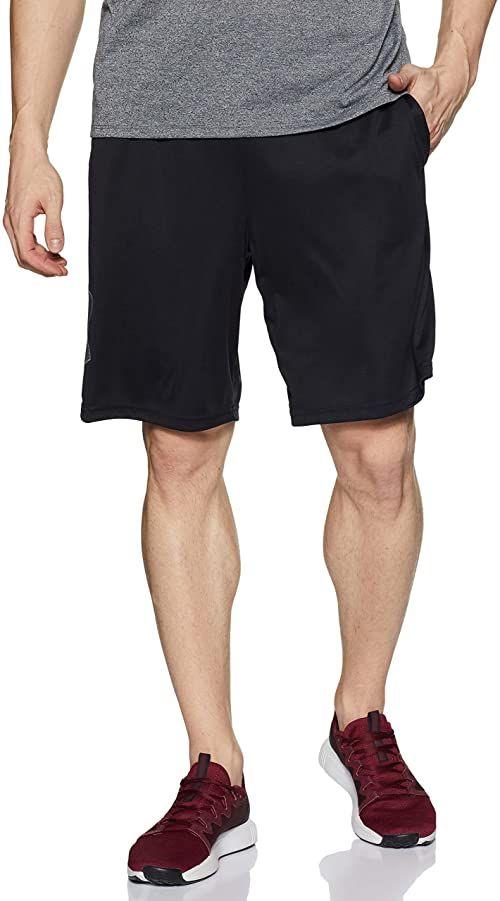 Under Armour Męskie oddychające szorty dresowe dla mężczyzn, wygodne krótkie spodnie o luźnym kroju Tech Graphic czarny czarny (Black) xxl