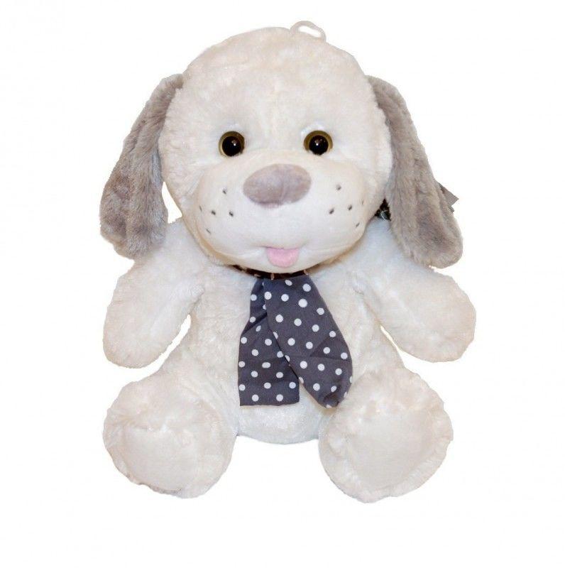 Maskotka Pies Kolekcja Silver biały 35 cm