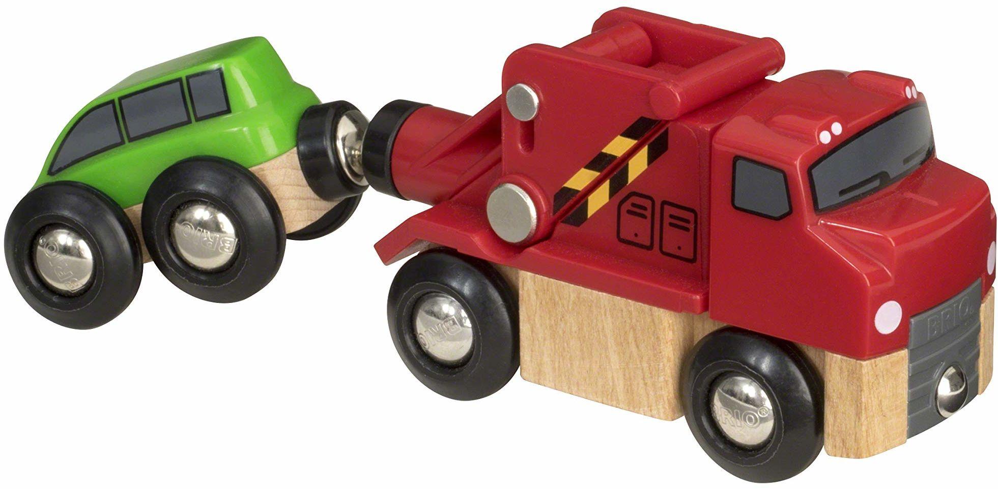BRIO World Tow Truck dla dzieci w wieku od 3 lat kompatybilny ze wszystkimi zestawami pociągów BRIO