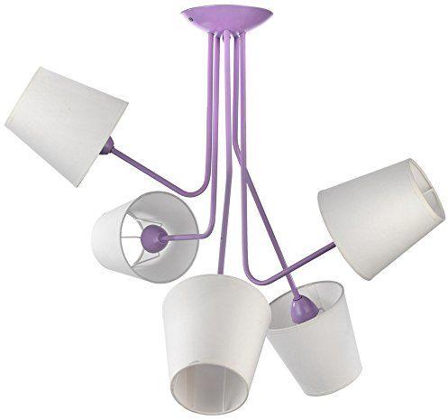 Onli 4780/PL5 lampa sufitowa z kloszami E14, 6 W, fioletowy, 70 x 75 cm