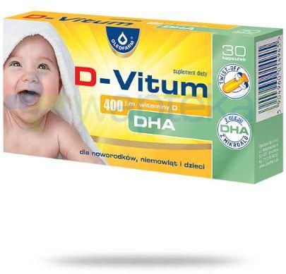 D-Vitum 400 j.m. witaminy D DHA 30 kapsułek