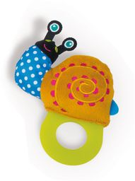 OOPS 13007.13 masaż dziąseł miękka kolekcja łatwa ząbkowanie ślimak zabawka, wielokolorowa