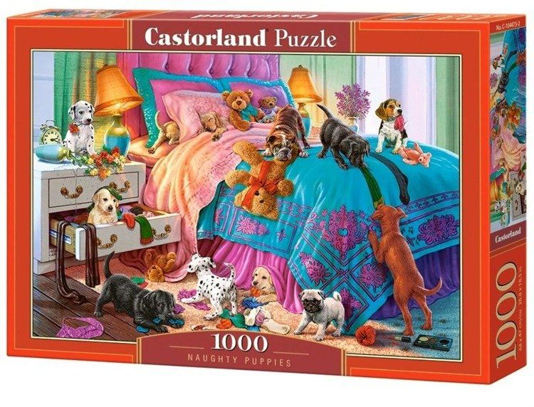 Puzzle 1000 Naughty Puppies CASTOR