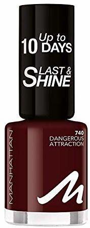 Manhattan Last und Shine lakier do paznokci, nr 740 Dangerous Attraction, 1 opakowanie (1 X 10 ml)