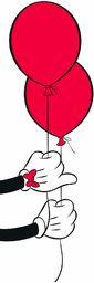 Disney obraz ścienny od Komar Mickey Mouse Balloon pokój dziecięcy, dekoracja, druk artystyczny rozmiar 40 x 50 cm (szerokość x wysokość) bez ramy WB032-40x50