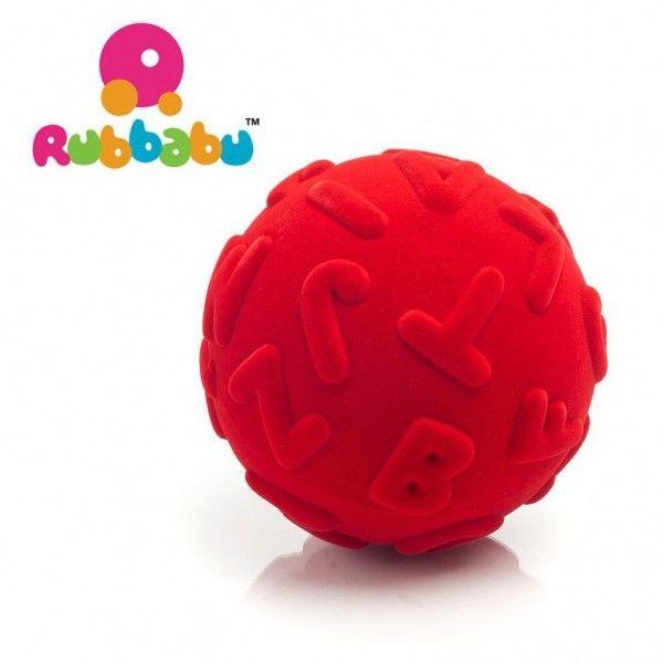 Rubbabu - Sensoryczna Piłeczka Edukacyjna Czerwona