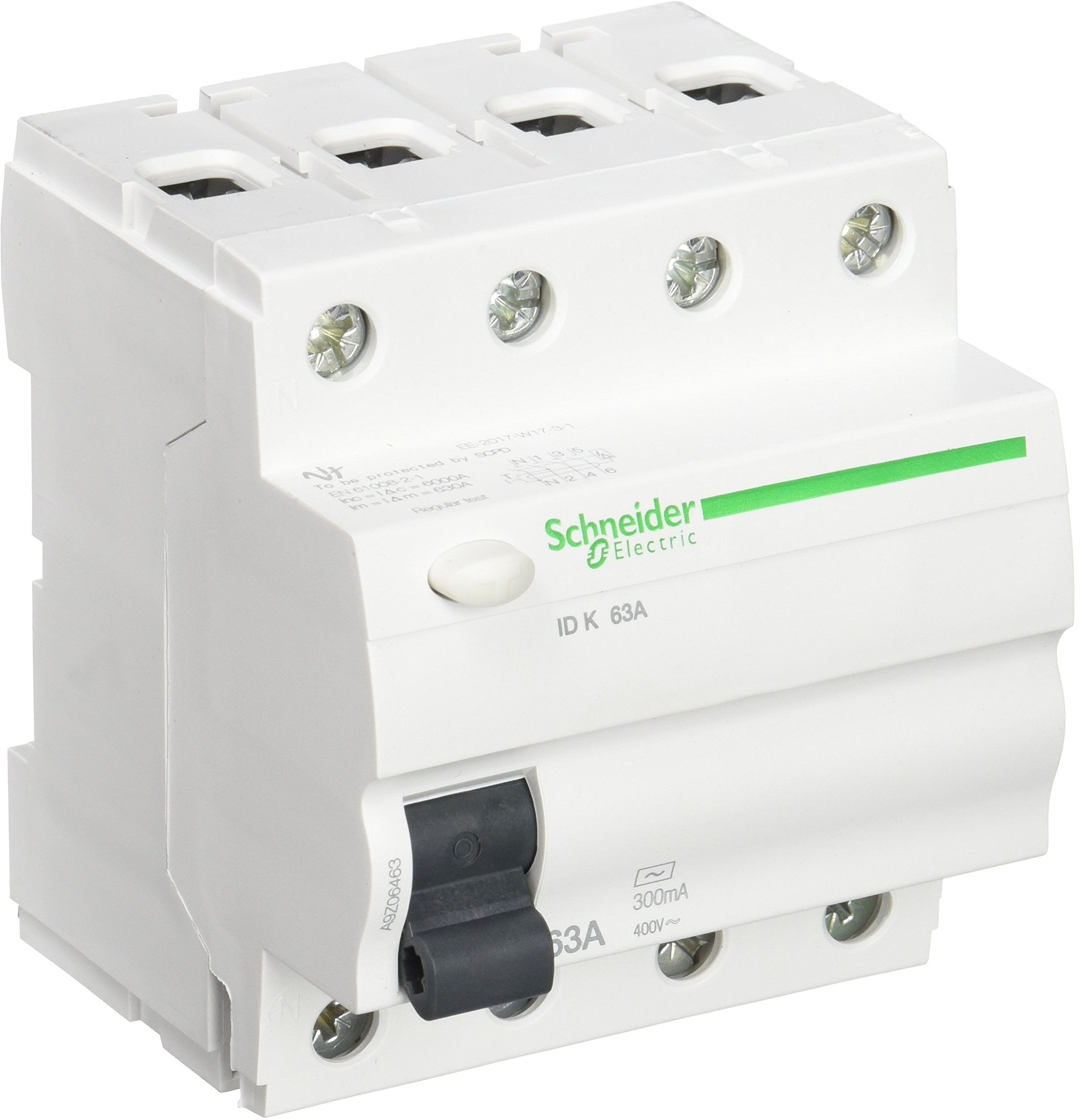 Schneider Electric a9z06463 wyłącznik różnicowoprądowy, 4P, 63 A, 300 mA, AC