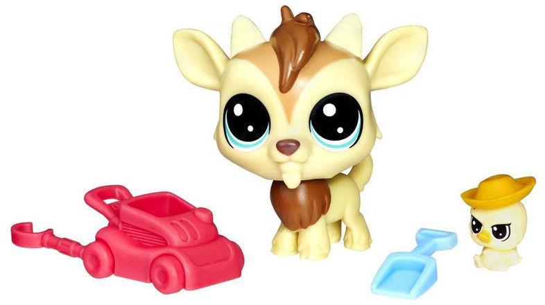 Littlest Pet Shop - Zwierzaki i akcesoria Qunicy i Chickles E0464
