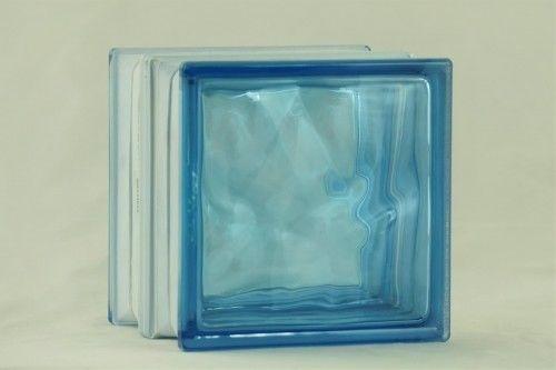 Pustak szklany 1919 16 Wave Azur E60 1,7 W m2*K energooszczędny 19x19x16 cm luksfer