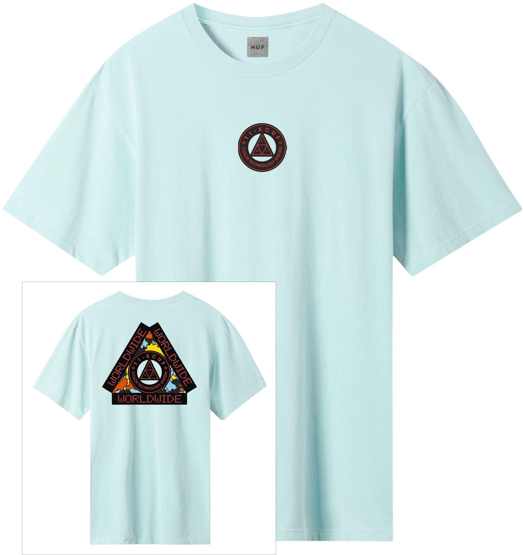 t-shirt męski HUF COLOR TECH TRIPLE TRIANGLE TEE Mint
