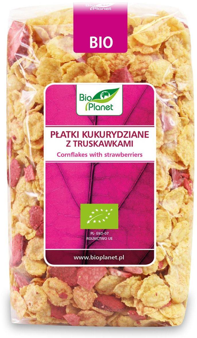 Płatki kukurydziane z truskawkami bio 250 g - bio planet