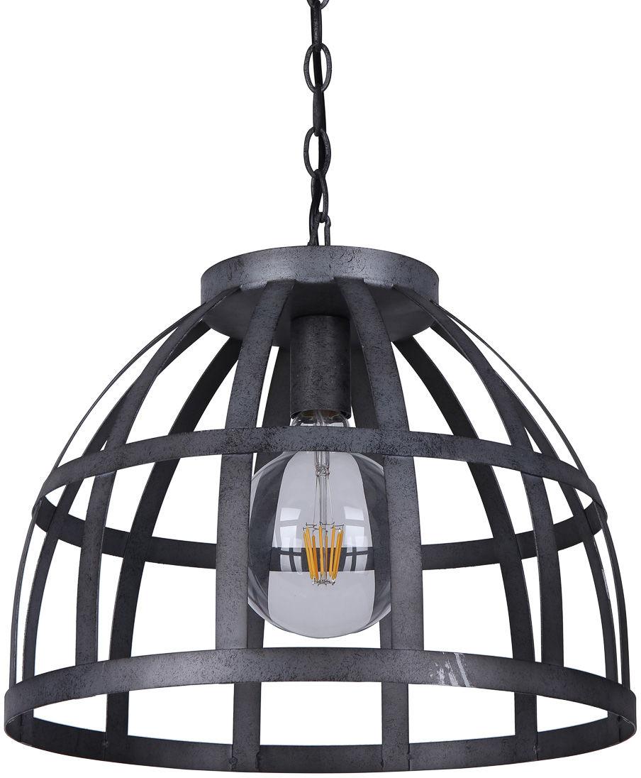 Italux Calera PND-4014-47-1 lampa wisząca industrialna srebrny antyczny klosz metal 47cm IP20 1xE27 60W