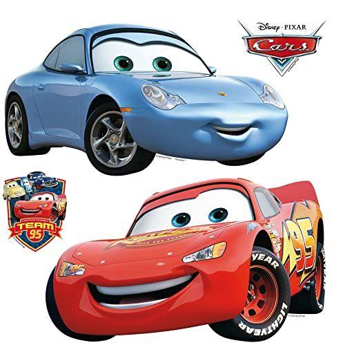 AG Design Disney Cars naklejka ścienna, folia PVC (wolna od ftalanów), wielokolorowa, 30 x 30 cm