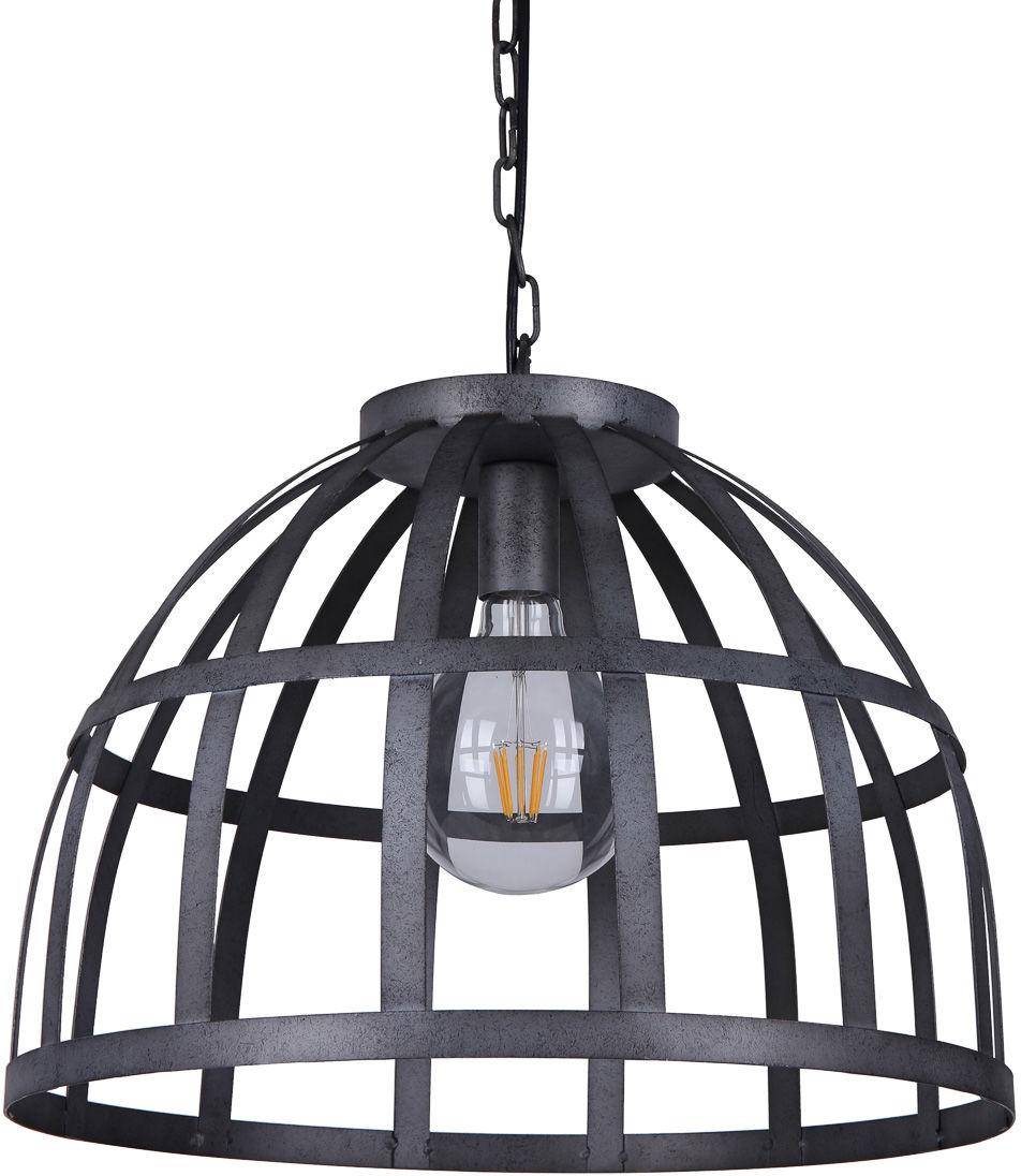 Italux Calera PND-4114-40-1 lampa wisząca industrialna srebrny antyczny klosz metal 40cm IP20 1xE27 60W