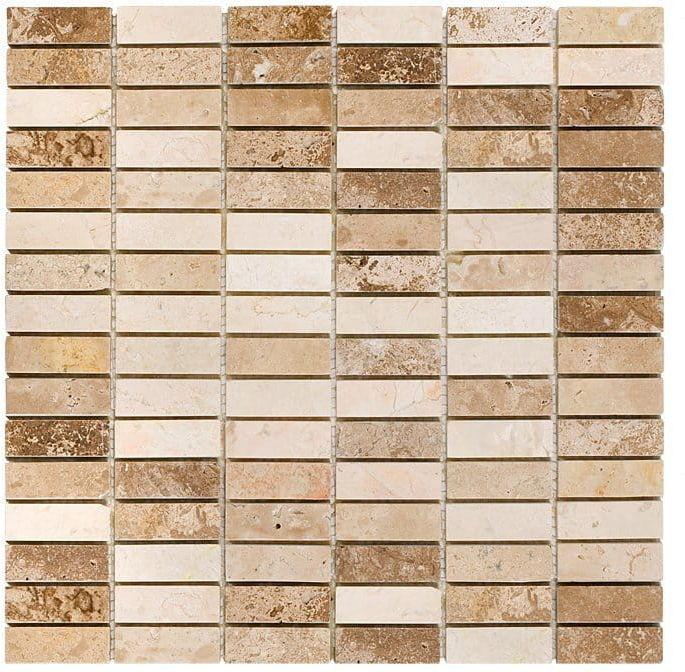 DUNIN Travertine mozaika kamienna Block Mix 48