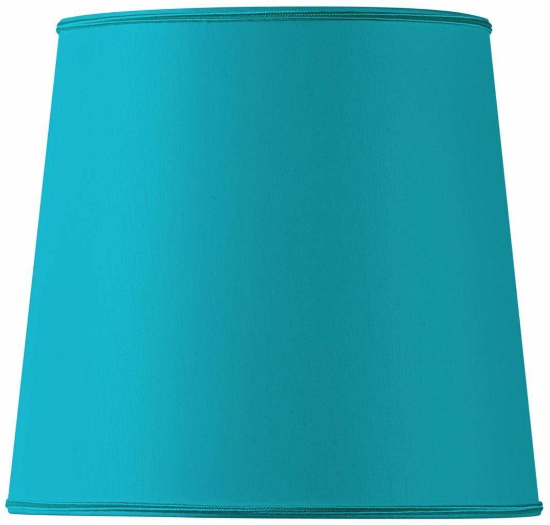 Klosz lampy w kształcie litery U, średnica 45 x 35 cm, turkusowy