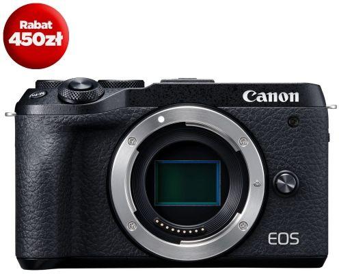Aparat cyfrowy Canon EOS M6 Mark II Czarny - cena promocyjna + rabat na obiektywy EF-M 200zł